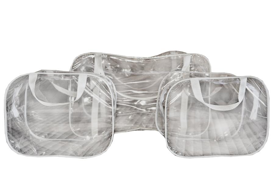 Прозрачная пустая сумка в роддом. Доступные цены. KinderBox 30593f34efb